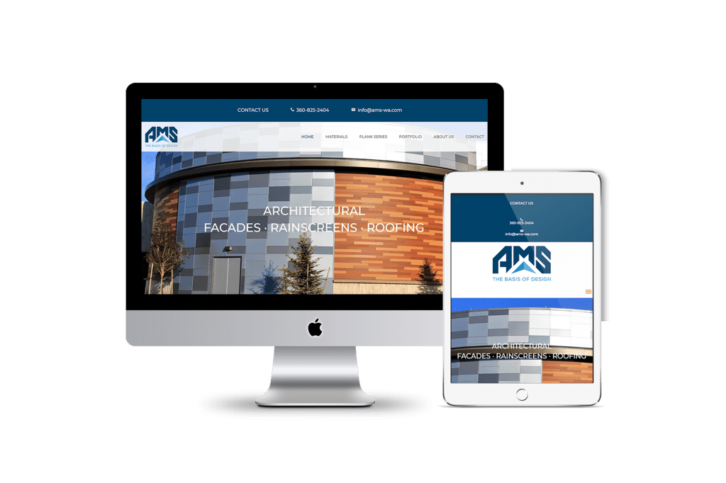 AMS website homepage design