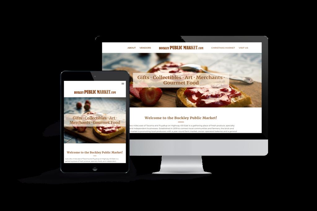 Buckley Public Market website homepage design
