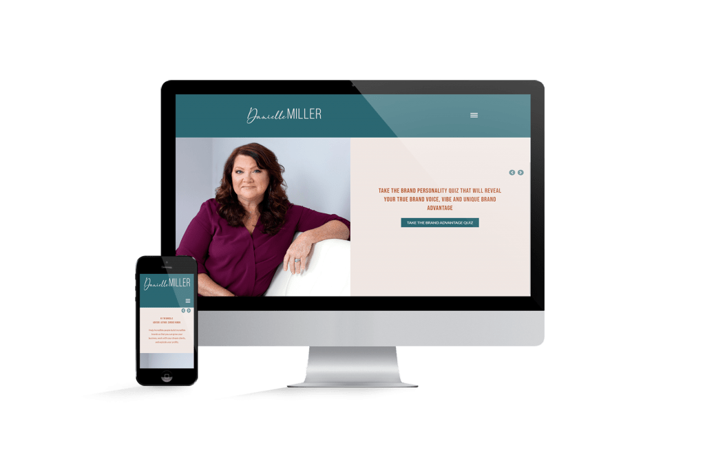Danielle Miller website homepage design