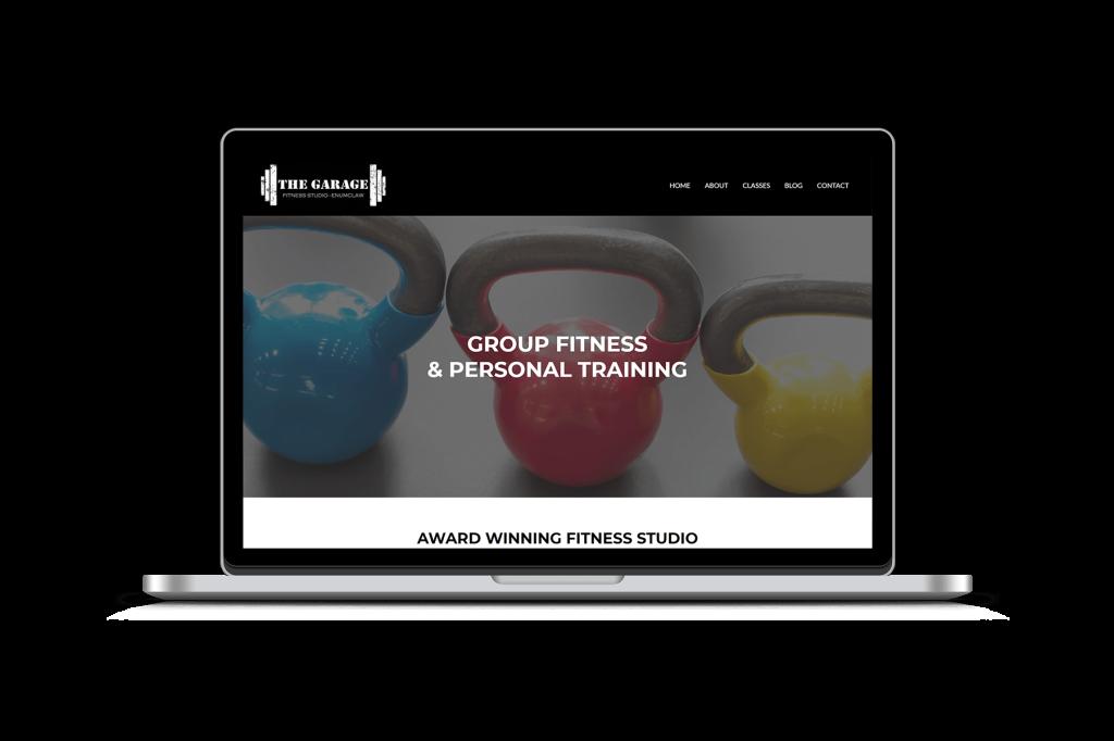 Garage Fitness website homepage design