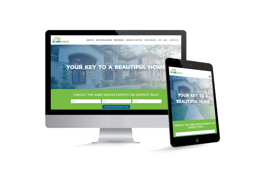 Key Home Services website homepage website design