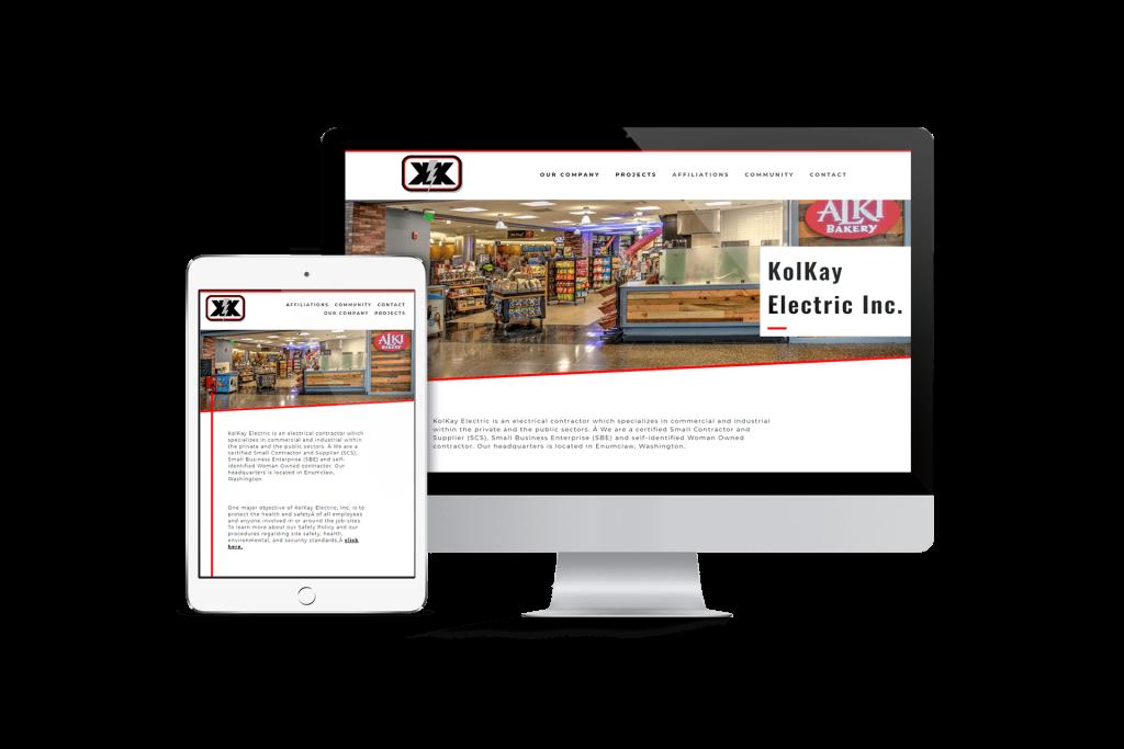 Kolkay homepage website design
