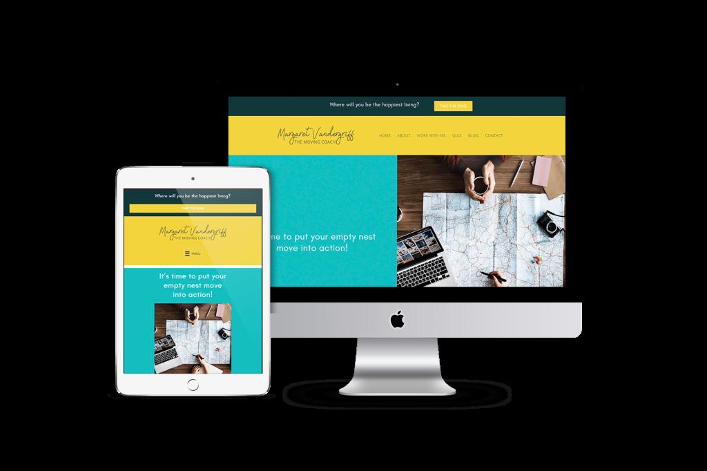 Margaret Vandergriff homepage website design