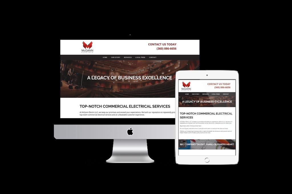 McGann Electric website homepage design