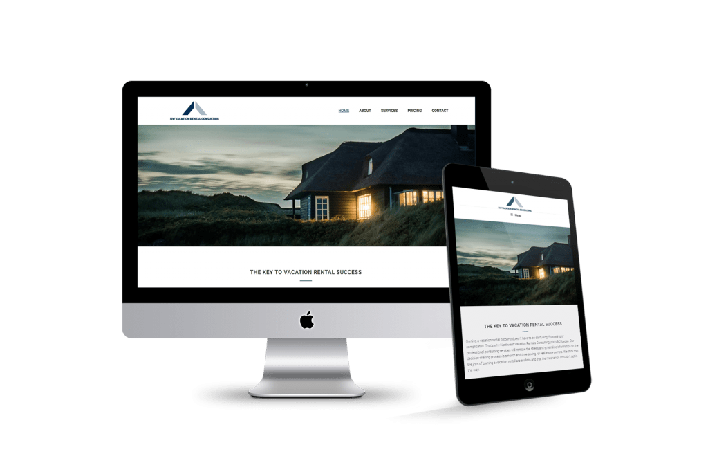 NW Vacation Rental Consulting website homepage design
