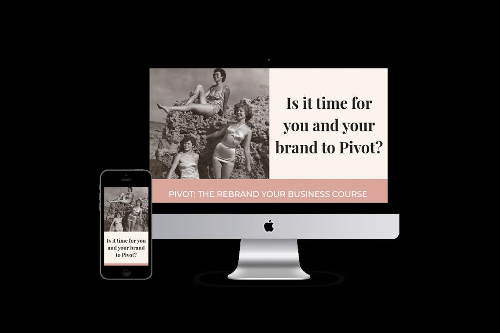 Pivot Rebrand homepage website design
