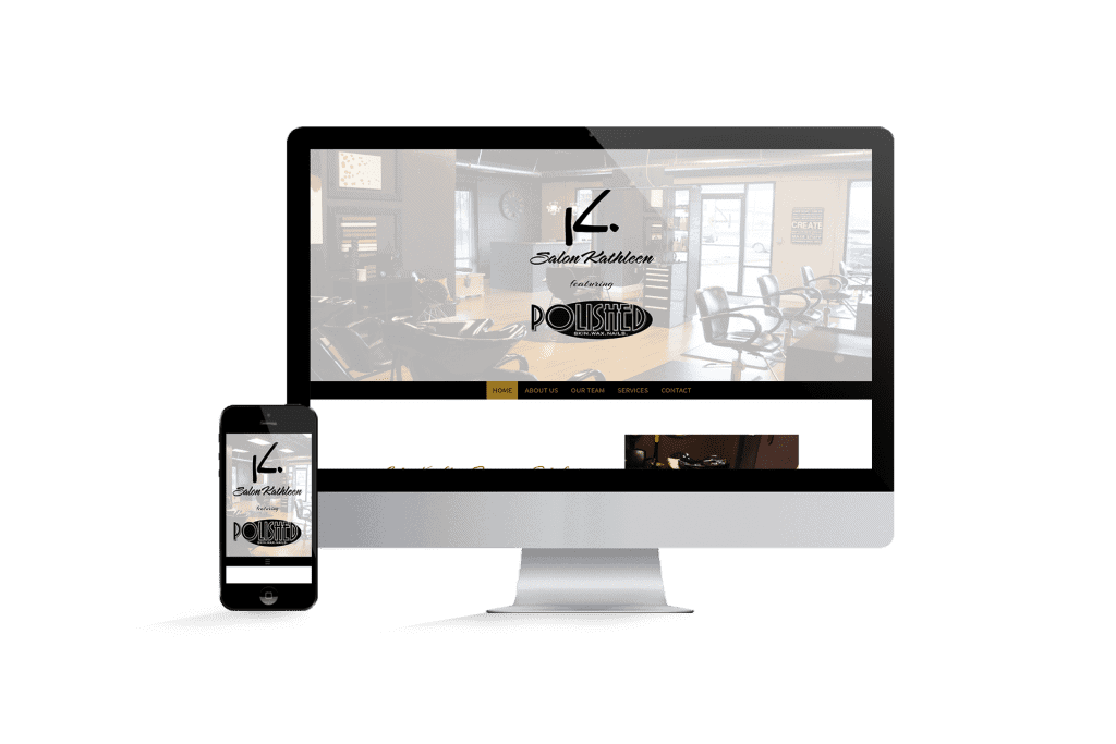 Salon Kathleen homepage website design