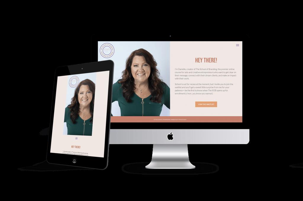 School of Branding website homepage design