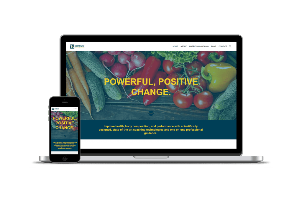Targeted Nutrition homepage design