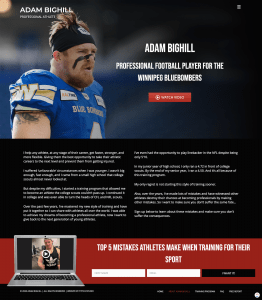 about adam bighill web page design