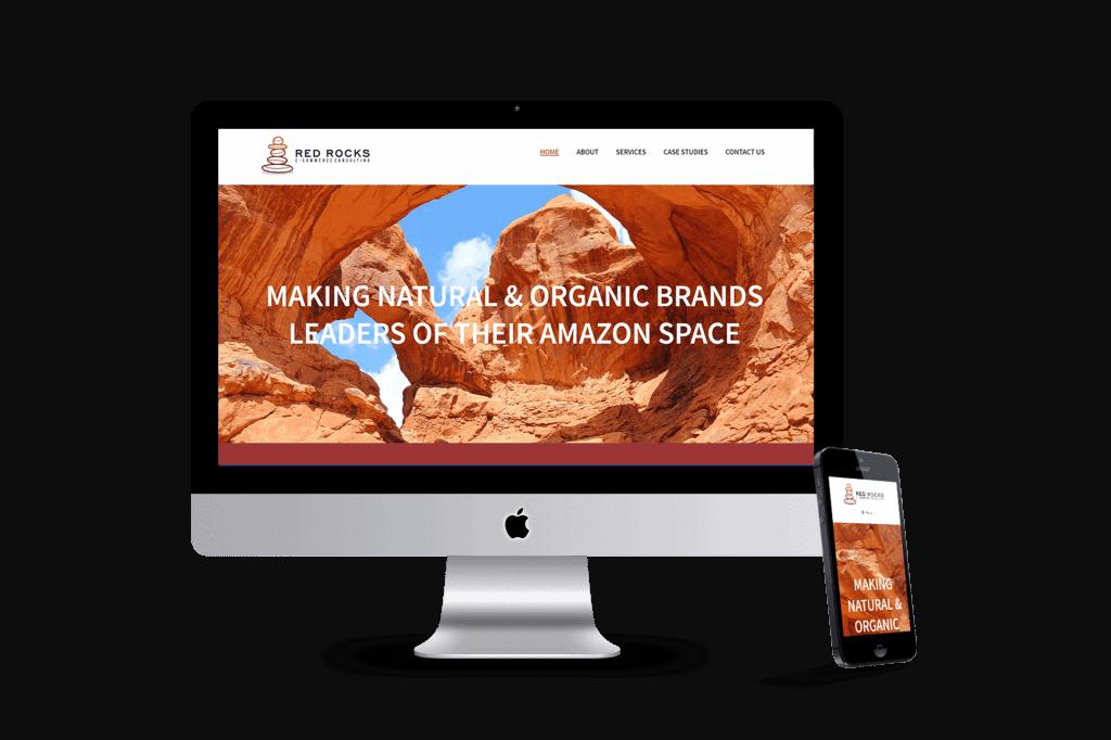 red rocks ecommerce website design